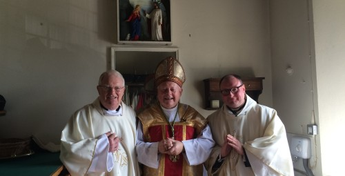 The Bishop of St Helena joined by Fr Robin & Fr Barry