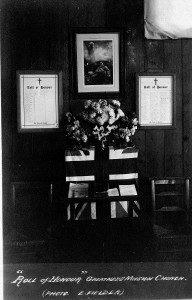 The war memorial in the Greatness Chapel